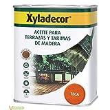 Xyladecor 5179176 - Aceite TECA para terrazas y tarimas de madera Xyladecor