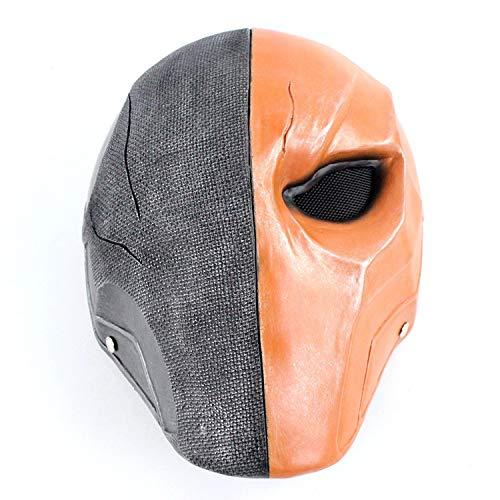 (hcoser Deathstroke Terminator Maske Cosplay Zubehör War Games Harz Maske Slade Joseph Wilson Helm)