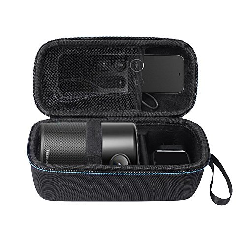 Nebula Capsule Beamer Tasche Hülle, Premium Tragetasche Cover Case für Anker Nebula Capsule Beamer Smarter Tragbarer Projektor, Passend für USB-Kabel Ladegerät und Zubehör (Schwarz)