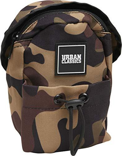 Urban Classics Small Crossbody Bag Umhängetasche, 18 cm, Woodland Camo/Orange -