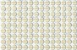 KwikCaps® PVC Avola Pinie Weiss Selbstklebende 3M Schrauben-Abdeckungen Abdeckkappen Nägel Cam flach [126 Stk. x 13 mm Durchmesser]