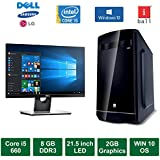"Desktop PC - Intel Core I5 660 Processor / 21.5"" LED Monitor / 2GB Graphics / Windows 10 Pro / 500GB HDD / DVD / WiFi"