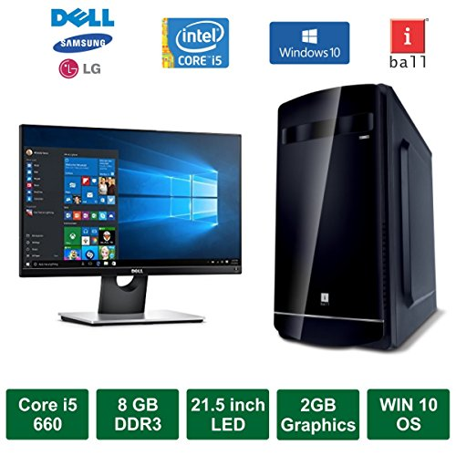 "Desktop PC - Intel Core I5 660 Processor / 21.5"" LED Monitor / Windows 10 Pro / 2GB Graphics / 2TB HDD / DVD / WiFi"