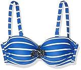 Olympia Damen Bikinioberteil Bikini Top La Passe, (Schwarz/Blau 926), 42 (Herstellergröße: 42E)