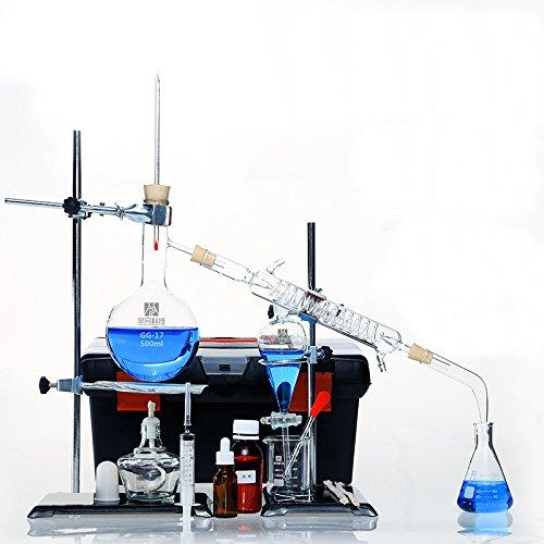 Destille Brenn-Gerät und Industrie-Brenner-Set, ätherisches Öl, Destille Alkohol Brenner Filter-Gerät, 22-teiliges Set, 500ml - öl-brenner Elektrische