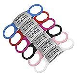 Bangoo Étiquettes personnalisées pour Chien - Médaille d'identification personnalisée en Acier Inoxydable et Caoutchouc