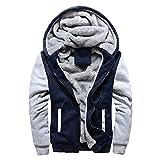 CICIYONER Plus Größe Sweatshirt für Herren, Männer Winter Warm Vlies Mit Kapuze Reißverschluss Sweatshirt Jacke Outwear Mantel M-XXXXXL