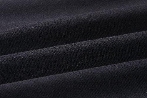 ACVIP Vestito Mini a Vita Alta Vestito Casual a Maniche Corte,4 Colori Nero