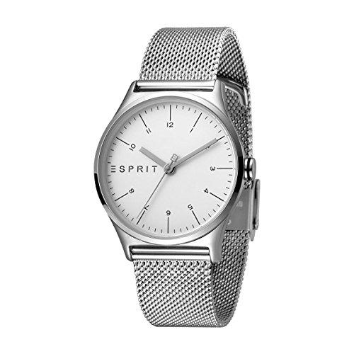 Esprit Damen Analog Quarz Uhr mit Edelstahl Armband ES1L034M0055 (Esprit Uhren Für Frauen)