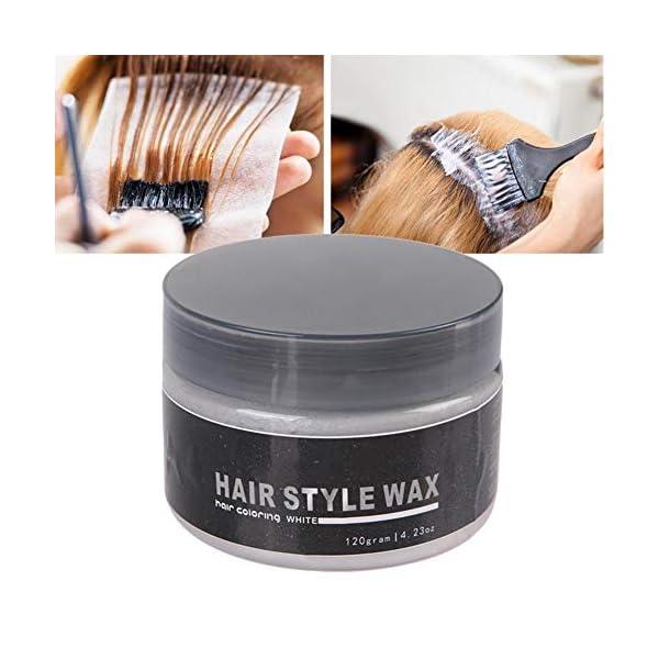 120g Color Cera para el cabello, Cera de Pelo desechable para colorear Mud Peinado