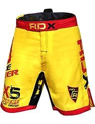 RDX MMA Pantalones Corto Boxeo Entrenamiento Muay Thai Shorts UFC Running Fitness Kickboxing