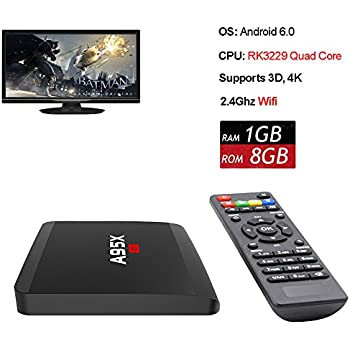 ANTSIR R1 Android 6.0 TV Box Amlogic Rockchip RK3229 Quad-core Cortex A7 1.5GHz 32bit 4K Google Smart Media Player WiFi- HDMI par ANTSIR
