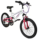 "Best Dual Suspension Mountain Bikes - Muddyfox Energy 20"" Girls Dual Suspension 6 Speed Review"