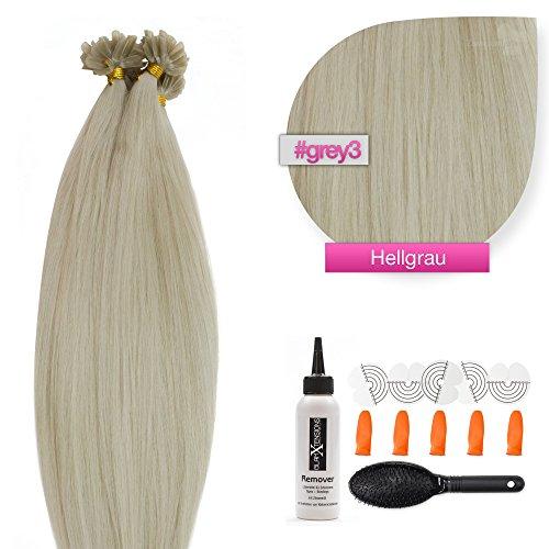 U di tip reale capelli extension cheratina bonding 60cm 0,5g liscia in 23diversi colori e quantità