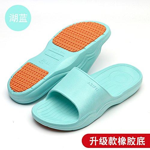 DogHaccd pantofole,Home pantofole donne indoor estate anti-slittamento raffreddare bagno pantofole bagno soft coppie di spessore piano casa pantofole per uomini Il lago blu4