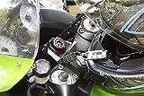 Crops Pro Q4-Biro Leichtes Fahrradschloss mit 3fach Zahlenkombination - Kehrt immer in die kompakte Kabelform zurück - Diebstahlsicherung - Fahrrad Reisegepäck Snowboard Motorradhelm - Schwarz -