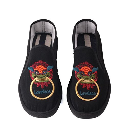 LvYuan Unisexe Chaussures en tissu traditionnel chinois / décontracté Retro Breathe Broderie chaussures / Kung Fu chaussures / Arts martiaux / slip-on chaussures 4#