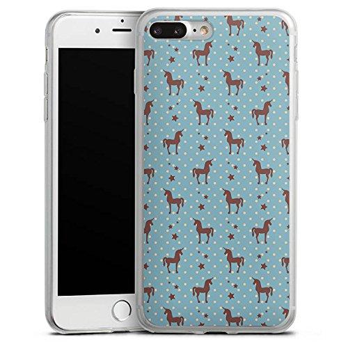 Apple iPhone 8 Slim Case Silikon Hülle Schutzhülle Einhorn Unicorn Muster Silikon Slim Case transparent
