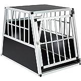 TecTake Transportín para perros jaula de transporte de viaje - pared trasera inclinada