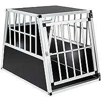 TecTake Transportín de aluminio para perro trapezoidal - varios modelos - (66x90x69,5cm |