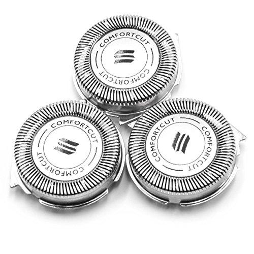 vhbw 3 x Cabezal de Afeitar para Philips 1000 Series (S1xxx), 3000 Series (S3xxx), S1300/04, S1310/04, S1320/04, S3110/06, S3110/08, S3110/41