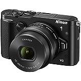 Nikon 1 V3 Systemkamera (18 Megapixel, 7,5 cm (3 Zoll) TFT-Display, Eletronischer Bildstabilisator, Full-HD-Videofunktion, WiFi, USB) Kit inkl. 10-30mm Objektiv schwarz