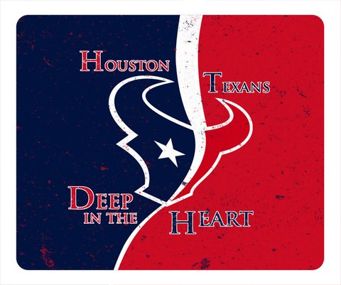 NFL Houston Texans Logo Custom Mouse Pad Rectangle by