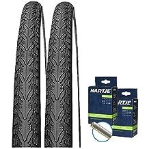"""2x Michelin Protek Max A3 28/"""" Pannenschutz Schlauch Auto Ventil"""