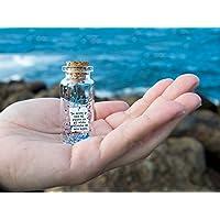 Te miro y veo el resto de mi vida delante de mis ojos.' Mensaje en una botella. Miniaturas. Regalo personalizado. Divertida postal de amor.