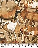 Fat Quarter Wild Wild West, Mustang, Baumwolle, Benartex 8023