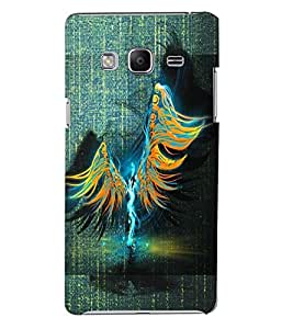 PrintVisa Modern Art Angel 3D Hard Polycarbonate Designer Back Case Cover for SAMSUNG Z3 Tizen
