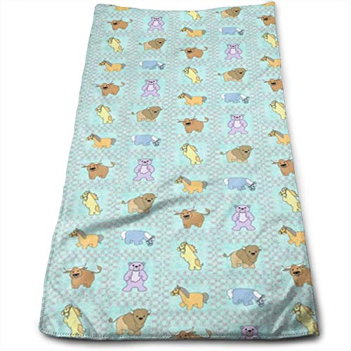 Kaixin J Baby Bears Go West - Animals Buddies_13495 Microfiber Bath Towels,Soft, Super Absorbent and Fast Drying, Antibacterial, Use for Sports, Travel, Fitness, Yoga 12 * 27.5 Inch (Bed Buddy Bear)