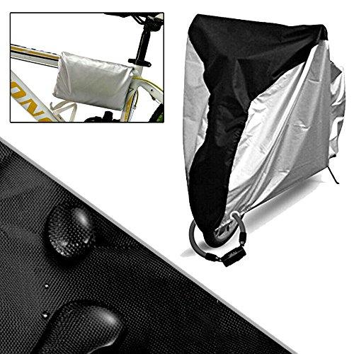 Icesnail Fahrradabdeckung fahrradhülle, Wasserdicht 190T Fahrradgarage Fahrrad schutzhülle, Fahrradschutzhülle Abdeckung für Fahrrad