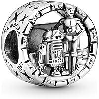 Pandora Star Wars C-3PO und R2-D2 offen gearbeitetes Charm, Sterling-Silber799245C00