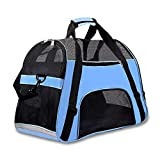 Features:Breathable Front Travel Dog Bag Carrying Animals Small Medium Dog Bag Carrying.Mesh windows are breathable, soft, breathe fresh air, enjoy the view, top and side with zipper lock, security, padded adjustable non-slip shoulder strap, seat bel...