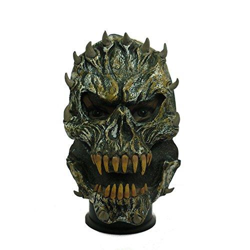 Image of Stone Skull Masks Party Fancy Dress Halloween Rubber Mask Spike Skull Style Demon Skull