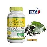 Extrait de Thé vert Bio-60 gelules-Nutricite-Bio-100% Bio Fabriqué en France -OFFERT: Facture+Notice d'utilisation PDF-the vert Bio Détoxifiant pour retrouver de l'énergie et une digestion efficace