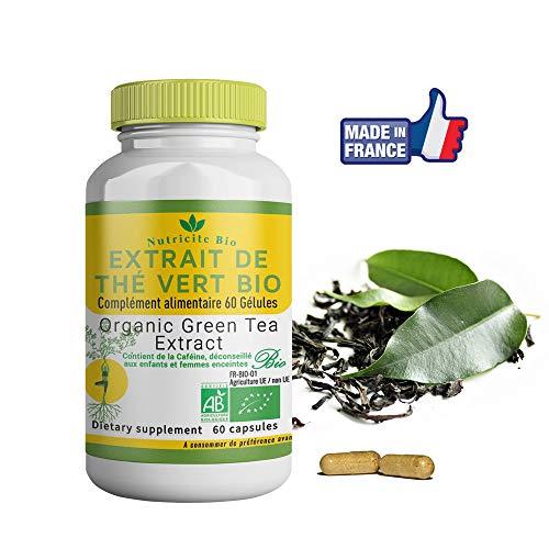 Extrait de Thé vert Bio-60 gelules-Nutricite-Bio-100% Bio Fabriqué en France -OFFERT:...