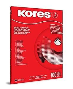 Kores Papier Carbone DIN A4 1200 100 feuilles Noir