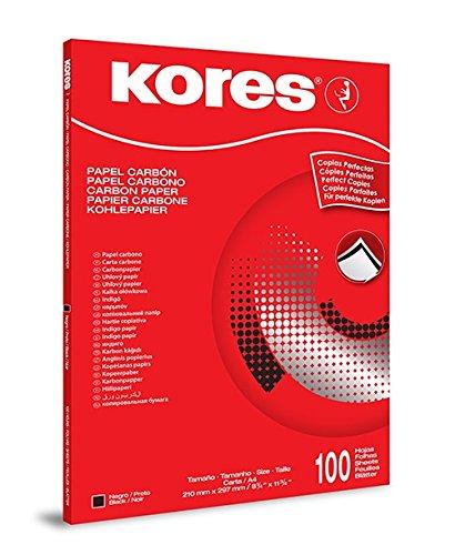 Kores Kohlepapier für Schreibmaschine, DIN A4, schwarz, 100 Blatt
