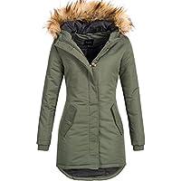 DESIRES Damen Envy Parka Lange Jacke Designer Winter-Mantel mit Kapuze aus  hochwertigem Material fa52558352