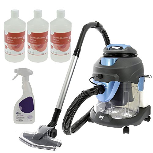 Ovation 4 in 1 Multi-Functional Wet & Dry Vacuum Cleaner Carpet Washer – 1400W + Plus 3 Free Bottles Of Carpet Shampoo & 1 Bottle of Stain Remover