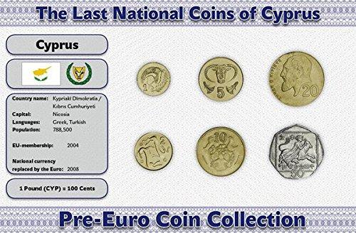 Preisvergleich Produktbild Zypern, Set von 6 münzen. 1991-2004