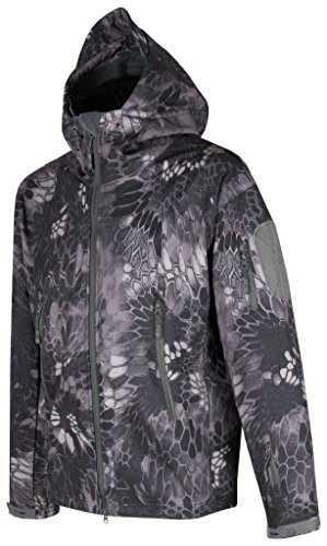 ACE Taktische Softshell-Jacke | Bequeme Outdoor-Kapuzenjacke für Herren | Tactical Military Jacket...