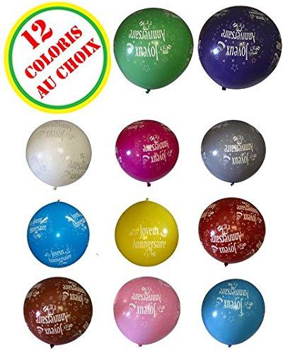 Générique Aptafêtes globos cumpleaños gigante todo alrededor–86cm