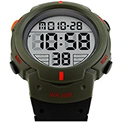 TTLIFE 1068 Outdoors Unisex LED Analog Digital Multifunction Sport Watch Water Resistant