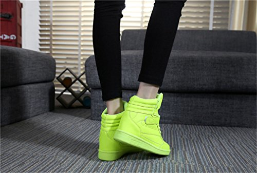 Ladies Sneakers Wedge Sneaker Wedges Bottines à lacets Chaussures Plateau Sneaker Vert