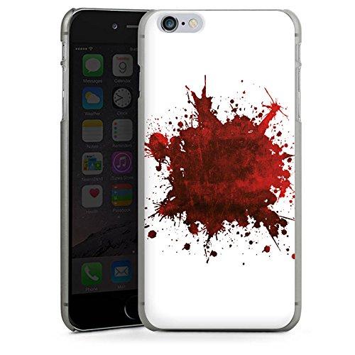 Apple iPhone 5s Housse Étui Protection Coque Sang Éclaboussure Grunge CasDur anthracite clair