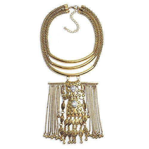 WTTCD Damen Halskette Anhänger S925 Halskette Halskette Legierung Quaste Halskette Legierung Diamant Artikel Dekoration Eisen Anhänger Quaste Halskette Gold Q6507T