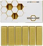 Natural Apiary 100% Bio-Bienenwachs Bars, für Lotionen/Lippenbalsam/Hautpflege/Kerzen/Seife/Politur, 28,3°g, 6 Stück